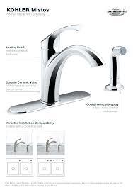 kohler revival kitchen faucet faucet kohler simplice kitchen faucet installation kohler