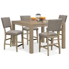Dining Table With Grey Chairs Shop 5 Piece Dining Room Sets American Signature Furniture