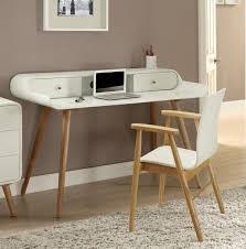 Laptop Desks Uk Retro Style White Laptop Desk Ash Wood Legs Opt Chair Oos