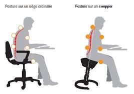 posture au bureau swopper shop chaise siège de bureau ergonomique et dynamique