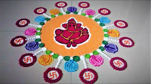 45 kolam designs for festivals innovative ganesh rangoli designs with lotus and swastik festival