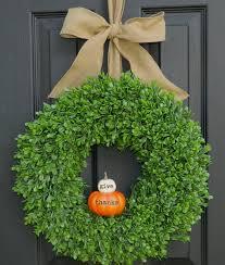 wonderful handmade thanksgiving wreath designs to decorate your