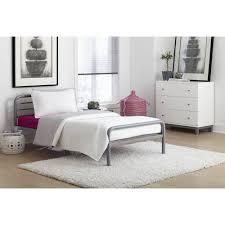 Twin Bed Connector by Your Zone Metal Loft Twin Bed With Mattress Walmart Com