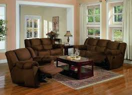 brown living room furniture chocolate brown microfiber contemporary reclining living room