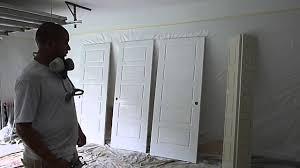 Paint Sprayer For Cabinet Doors How To Paint Closet Doors Using Graco Ultra 395 Paint Sprayer