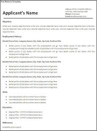 Microsoft Word 2007 Resume Template Resume Template Download Free Microsoft Word Free Downloadable