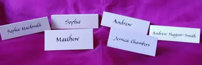 Table Name Cards by Seating Plans And Place Cards