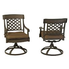 Swivel Rocking Chairs For Patio Shop Garden Treasures Set Of 2 Herrington Aluminum Swivel Rocker