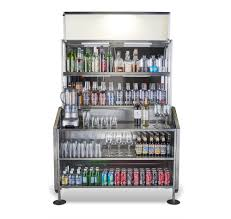 Bar Mirror With Shelves by Portable Back Bar Stainless Steel The Portable Bar Company