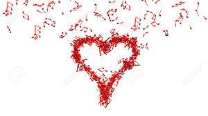 imagenes de notas rojas fondo de un montón de notas rojas de la música haciendo un gran