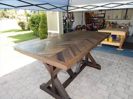 Sturdy Table Diy Chevron Pallet Dining Table Pallet Furniture Plans