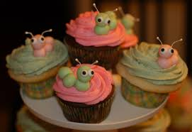inspired by adapted by caterpillar cupcakes
