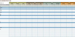 marketing action plan template excel marketing spreadsheet