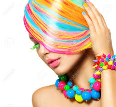 girl accessories beauty girl portrait with colorful makeup hair and accessories