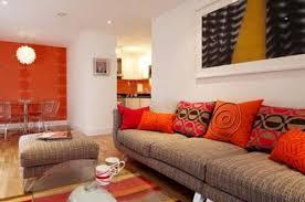 Orange Living Room Home Design Ideas - Orange living room design