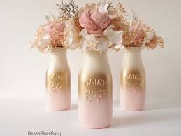 baby shower centerpieces for a girl pink and gold baby shower decor centerpiece girl painted milk