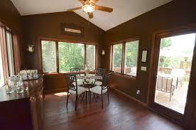 Craftsman Ceiling Fan by Craftsman Dining Room With Hardwood Floors U0026 Wall Sconce In Elk