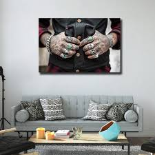 tattoo home decor tattoo canvas wall art tattoo home decor popsugar home photo 7