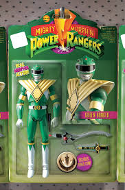 mighty morphin power rangers 1 green ranger unlock action figure