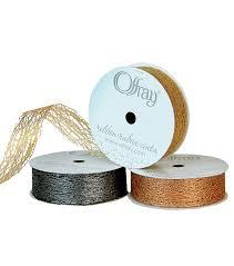 offray accessories offray 7 8 x9 metallic web woven ribbon joann