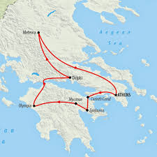 Ancient Greece On A World Map by Greece Tours Holidays To Greece On The Go Tours