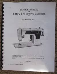 singer 237 sewing machine service repair adjusters manual book