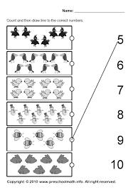 kindergarten worksheets printable math kids activities