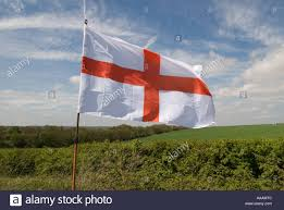red cross on a white background the english flag of st george in