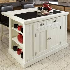 minimalist kitchen with nantucket distressed white finish kitchen minimalist kitchen with nantucket distressed white finish kitchen island black leather bar stools and