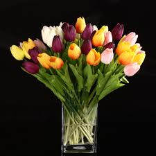 Decorative Flowers For Home by Online Get Cheap Bouquet Tulips Aliexpress Com Alibaba Group