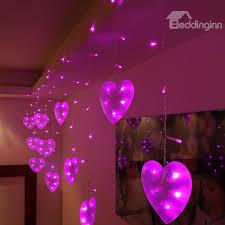 heart shaped christmas lights romantic pink heart shaped 9 8 feet width home decorative led string