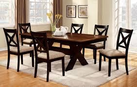 Transitional Dining Room Furniture Furniture Of America Cm3776t Cm3776sc Liberta 7 Pieces