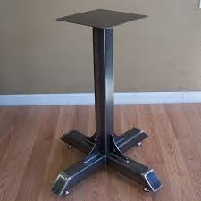 Industrial Bistro Table Bistro Cafe Table Base Heavy Duty Industrial Steel Pedestal With