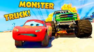 lightning mcqueen monster truck videos lightning mcqueen monster truck attack spiderman rescue cars 3