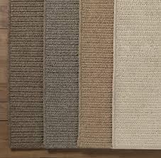 Flat Rug Wool Flat Weave Herringbone Rug