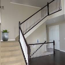 Refinish Banister Furniture Wonderful Wooden Stair Railing Using Espresso Java Gel