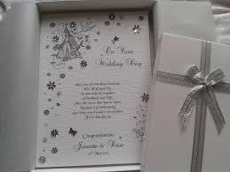 luxury wedding day celebration card handmade pe folksy