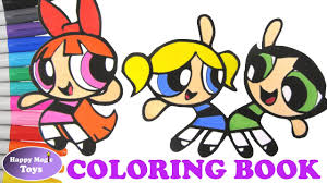 the powerpuff girls dancing coloring book buttercup bubbles