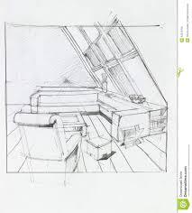Living Room Clipart Black And White Attic Living Room Stock Illustration Image 42978709