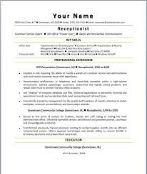 Receptionist Job Resume by Receptionist Job Resume Format Download Receptionist Resumes