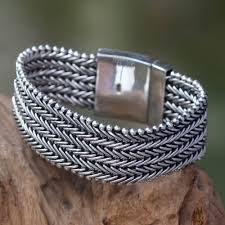 man silver bracelet jewelry images Sterling silver chainmail bracelet for men from indonesia armor jpg