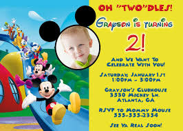 mickey mouse clubhouse birthday invitations u2013 gangcraft net