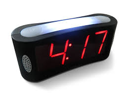 amazon com led digital alarm clock outlet powered no frills