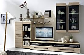 BRW Living Room Furniture Set Sonoma Oak Polish Black Red White - Oak living room sets