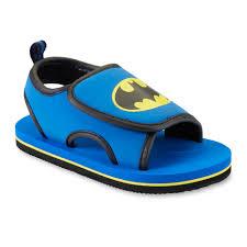 dc comics toddler boy u0027s batman blue black sandal