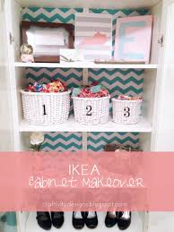 add contact paper inside a cabinet by erica from craftivity