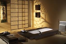 cozy and natural japanese style bathroom design featuring white