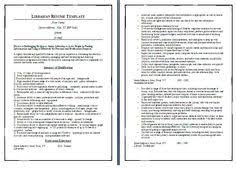 Librarian Resume Examples by Librarian Resume 2 Resumes And Interviews Pinterest