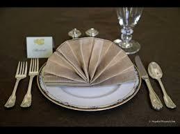 how to make fancy table napkins napkin folding fancy fan youtube