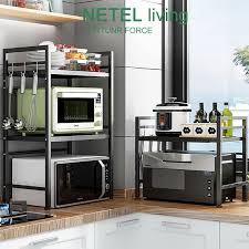 kitchen cabinet height kitchen rack microwave oven rack expandable and height adjustable kitchen storage organizer rack 1 2 tier kitchen cabinet storag
